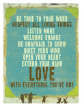 Be True Love Big Poster by Lisa Weedn