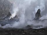 Erta Ale Steaming Hornitos, Danakil Depression, Ethiopia Fotografisk tryk
