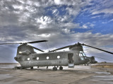 High Dynamic Range Image of a Ch-47 Chinook Helicopter Photographic Print
