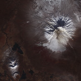 Ash Stains on Russia's Shiveluch Volcano's Slopes Photographic Print