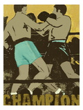 Champion Boxers in the Ring Art by Lisa Weedn