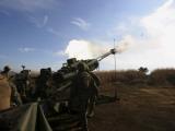 Artillerymen Fire a 155Mm Round Out of an M777 Lightweight Howitzer Photographic Print