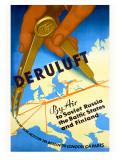 Deruluft German Airline Poster Giclee Print