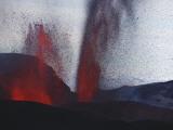 FimmvördUHals Eruption, Lavafountains, Eyjafjallajökull, Iceland Photographic Print