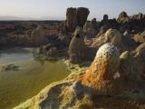 Dallol Geothermal Area, Danakil Depression, Ethiopia Fotografisk tryk