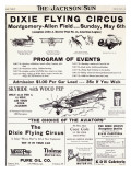 Dixie Flying Circus Program Poster Print