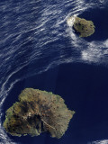 Satellite View of the Prince Edward Islands Photographic Print