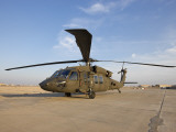 A UH-60 Black Hawk Helicopter at Camp Speicher, Iraq Photographic Print