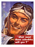Vintage WWII AAF Army Air Corps Poster Giclee Print