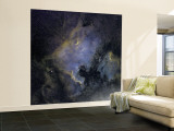 The North America Nebula and the Pelican Nebula in the Constellation Cygnus Wall Mural – Large