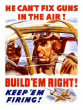 WWII US Homefront 'Keep 'Em Firing' Poster Prints