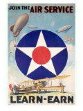 WWI Join the US Army Air Service Pósters