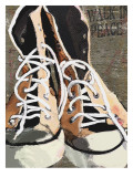 High Tops for Peace - Vintage Sneakers Prints by Lisa Weedn