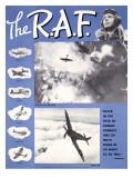 WWII RAF Spitfire Pilots Recruiting Digitálně vytištěná reprodukce