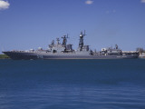 Russian Destroyer Admiral Panteleyev Transits Our of Pearl Harbor, Hawaii Photographic Print