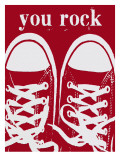 You Rock Red Sneakers Posters by Lisa Weedn