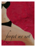 Vintage Pin-Up Forget Me Not Giclee Print by Lisa Weedn