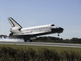 Space Shuttle Atlantis Touches Down at Kennedy Space Center, Florida Photographic Print