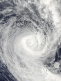 Tropical Cyclone Oli Off the Coast of Tahiti Photographic Print
