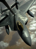 A US Air Force F-22 Raptor Is Refueled by a Kc-10A Extender Aircraft over Southwest Asia Photographic Print