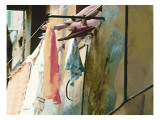 Italian Laundry Street Art Giclee Print by Lisa Weedn