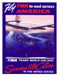 Fly Air America Constellation Poster Giclee Print