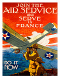 WWI Join the Army Air Service Giclee Print