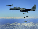 US Air Force F-15E Strike Eagle Aircraft Drops 2,000-Pound Joint Direct Attack Munitions Photographic Print