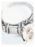 Happiness Engagement Ring Giclee Print by Lisa Weedn