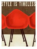 Stil ist zeitlos, Mid-Century Stuhldesign, Englisch Poster von Lisa Weedn