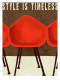 Style is Timeless Midcentury Chairs Giclee Print by Lisa Weedn