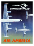 Fly Air America Super G Constellation Giclee Print
