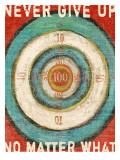 Vintage Dartboard Bullseye Giclee Print by Lisa Weedn