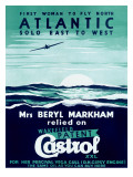 First Woman to Fly North Atlantic Solo/Castrol Art
