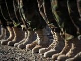 Afghan National Army Air Corp Soldiers Training in Kandahar, Afghanistan Photographic Print
