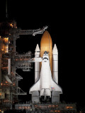Space Shuttle Atlantis Sits Ready on its Launch Pad at Kennedy Space Center, Florida Photographic Print