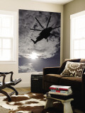 Low Angle View of a Ch-53E Super Stallion Helicopter in Flight Wall Mural