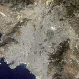 True-Color Satellite View of Central Athens, Greece Photographic Print