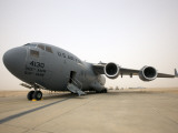 A C-17 Globemaster Iii Sits on the Runway at Cob Speicher, Iraq Photographic Print