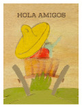 Hola Amigos Prints by Lisa Weedn
