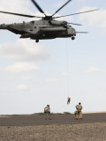 Air Force Pararescuemen Conduct a Combat Insertion and Extraction Exercise in Djibouti, Africa Photographic Print