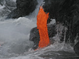 Kilauea Lava Flow Sea Entry, Big Island, Hawaii Photographic Print