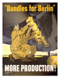Vintage WWII AAF Bomb War Production Poster Prints