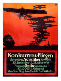 German Biplane Monoplane Air Show Art
