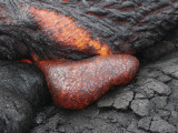 Kilauea Pahoehoe Lava Flow, Big Island, Hawaii Photographic Print