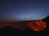 Erta Ale Morning Dawn Lavalake Reflection, Danakil Depression, Ethiopia Fotografisk tryk
