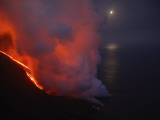 Stromboli Lava Flow, Sea Entry, Aeolian Islands, North of Sicily, Italy Photographic Print