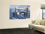 International Space Station in Orbit Above the Earth Wall Mural
