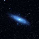 Andromeda Galaxy's Older Stellar Population in Blue Photographic Print