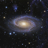 Messier 81, or Bode's Galaxy, is a Spiral Galaxy Located in the Constellation Ursa Major Lámina fotográfica